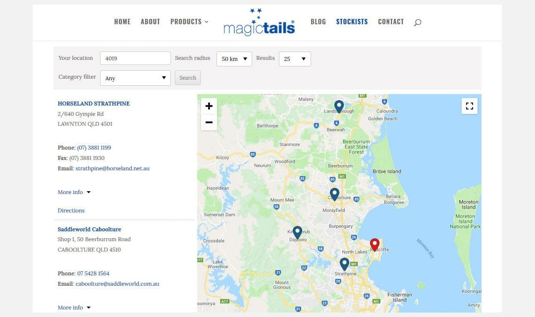 Our Magictails® Stockists around Australia