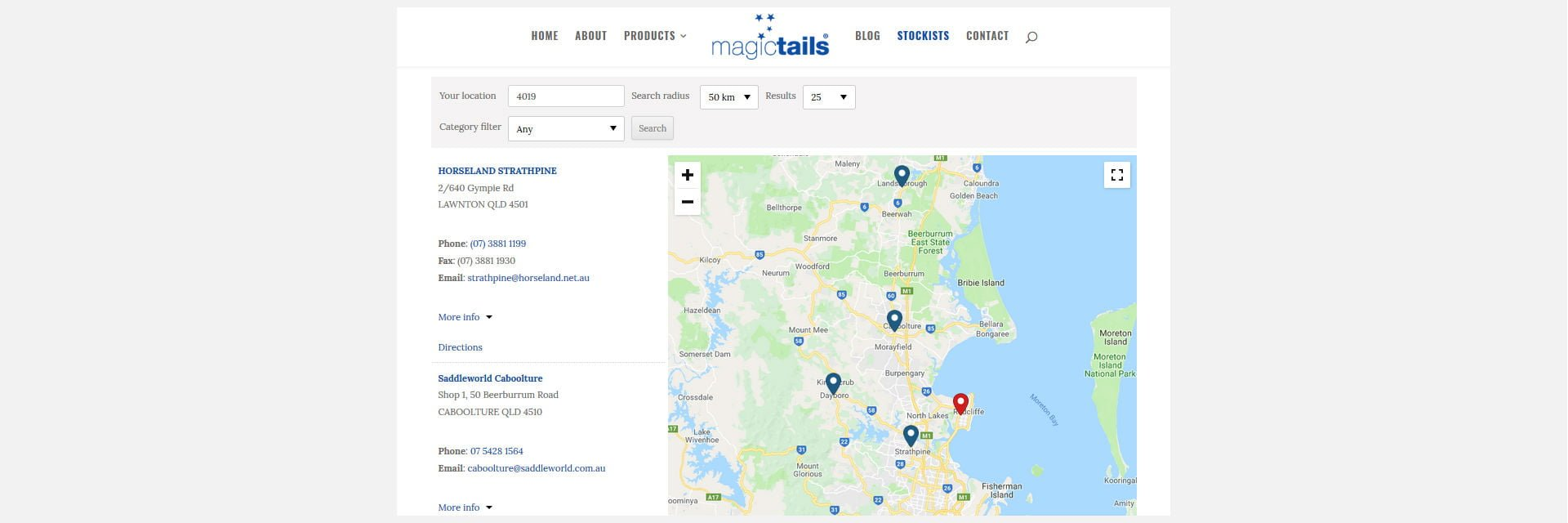 Magictails Stockists Locator around Australia